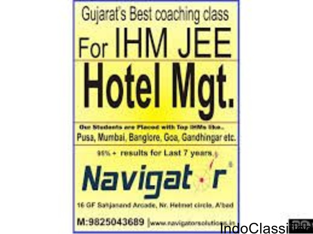 NAVIGATOR - IHM JEE Coaching class Ahmedabad NCHMCT Hotel Management entrance exam 2018