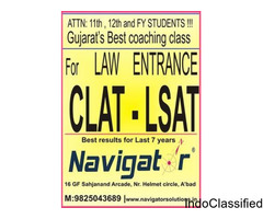NAVIGATOR for CLAT 2018 LAW Entrance exam coaching in Ahmedabad Gujarat