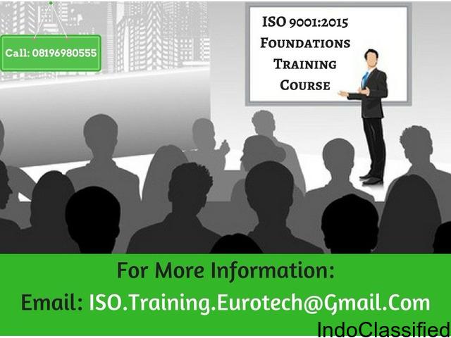ISO 9001 2015 1 DAY FOUNDATION TRAINING COURSE DELHI 2018