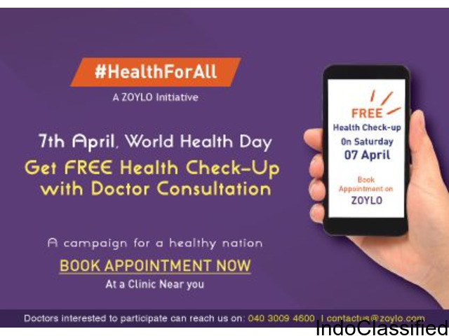 Get FREE Health Checkup & Doctor Consultation from ZOYLO