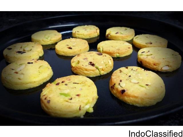 eggless saffron cookies recipe