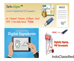 Digital signature for PDF invoices