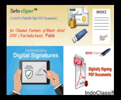 Digital signature for PDF invoices