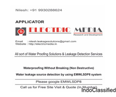 Waterproofing Without Breaking and Water Leakage Source Detection by using EMWLSDP8 Technology