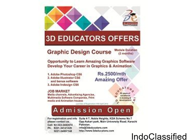 Graphic design & animation course offerd by 3D educators