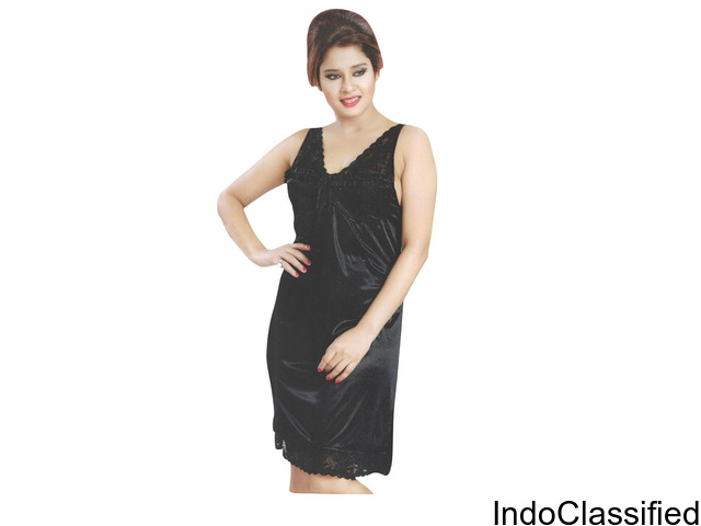Indiatrendzs Women Satin Night Dress & Lingerie Set For Sex Pack Of 3