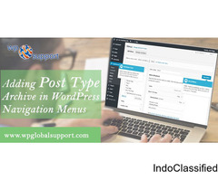 Adding Post Type Archive in WordPress Navigation Menus