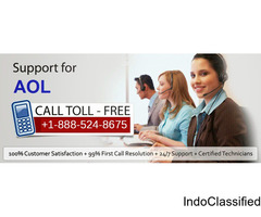 Aol toll free number usa  1-888-524-8675