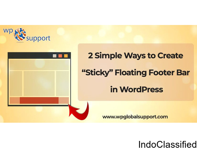 Easy Way to Create Sticky Floating Footer Bar in WordPress