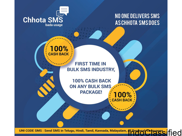 Hi ,  We are Chhota SMS, a Bulk Messaging Platform!!