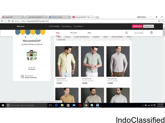 Buy shirt, jeans, and more fashion product in 80% discount