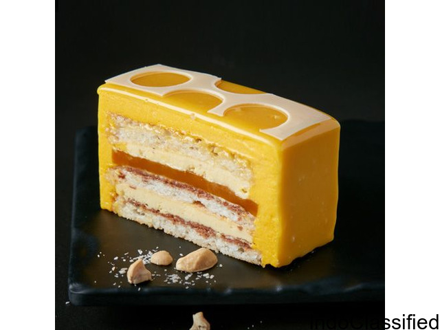 Coconut, Mango and Cashew Delice | Buy Cakes Online in Bangalore | Smoor Chocolates