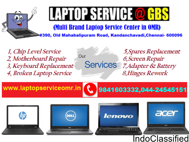 Laptop Service @ GBS -Gateway-Laptop Repair & Service Center in OMR - Kandanchavadi