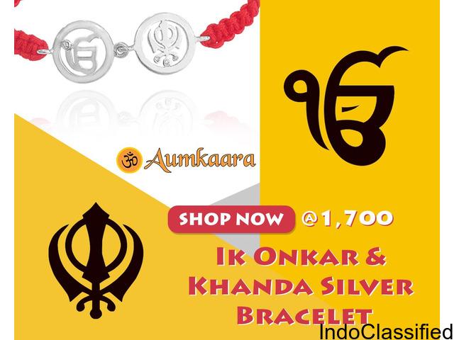 Ik Onkar & Khanda Silver Bracelet