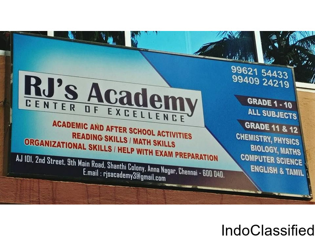 RJs ACADEMY-NEET,JEE/IIT Coaching Centre-11th &12th Tuition Centre in AnnaNagar