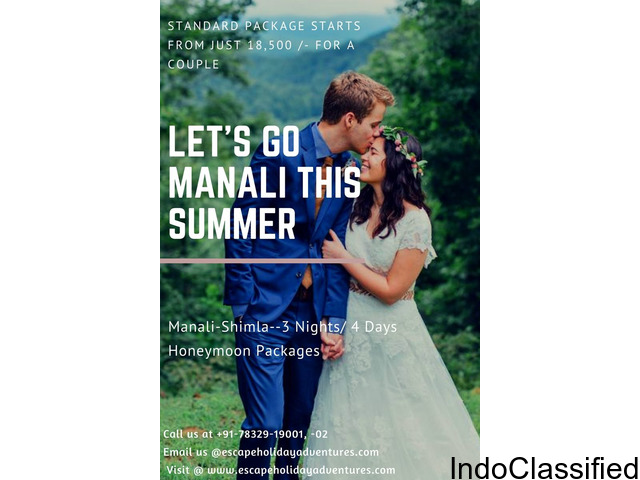 Holiday Packages from Escape Holiday Adventures Manali