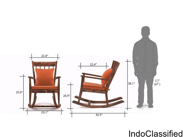 Rocking Chair Made of Sheesham Wood