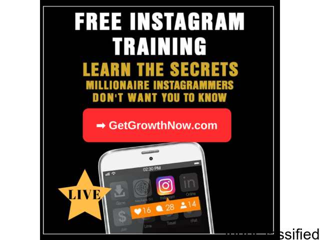Want to Grow Your INSTAGRAM Following FAST?? Live Webinar