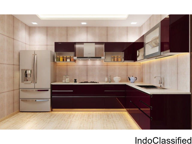 U Shaped Modular Kitchen Manufacturers And Designers In Delhi   B.S  Innovations