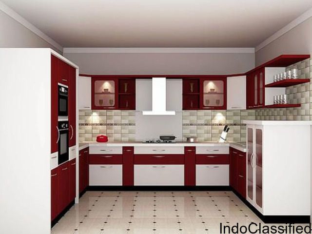 U Shaped Modular Kitchen Manufacturers and designers in Delhi - B.S Innovations