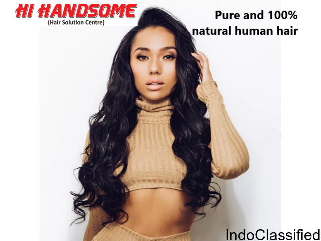 100% natural human Hair Wig in Patna | Hair Weaving in Patna- Hi Handsome Patna