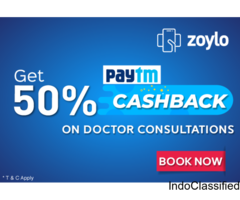 Get 50% CASHBACK on Doctor Consultation Fee on ZOYLO