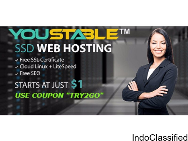 Web hosting starts at just $1
