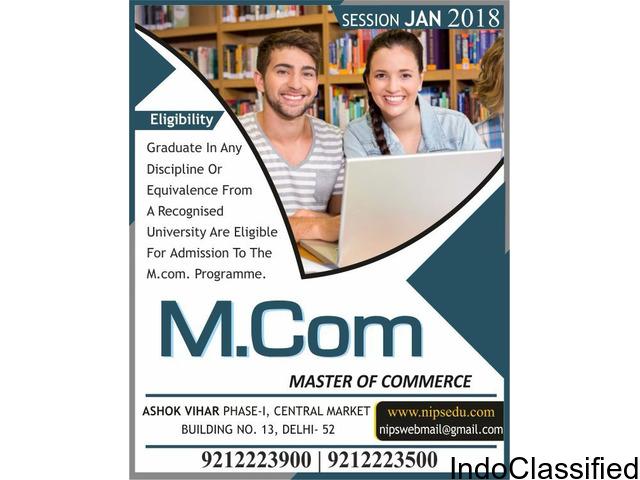 M.com Admission 2018 Distance