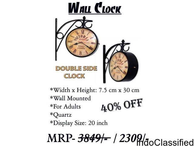 DOUBLE SIDE CLOCK