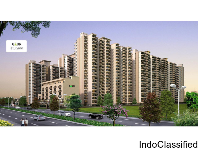 Book Now 3 BHK Apartments @ Rs 38.93Lacs at Gaur Atulyam
