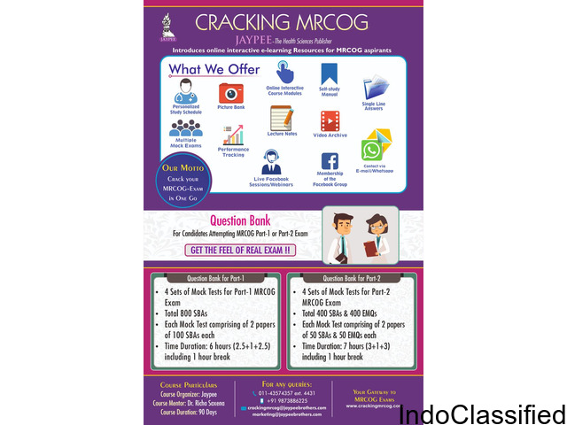 MRCOG Online Courses training to help pass your mrcog part 1 part 2 Exam