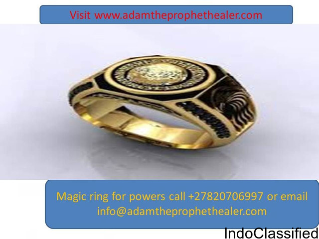 Get magic ring that brings money instantly and solve your financial problems +27820706997