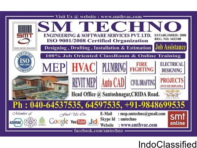 LIVE ONLINE TRAINING INSTITUTE FOR MEP IN HYDERABAD