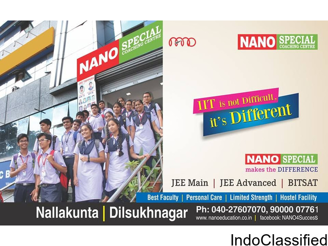 Long Term Coaching For IIT JEE In Hyderabad-NanoEducation
