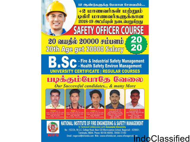 Annamalai University NIFS Fire Engineering and Safety Management