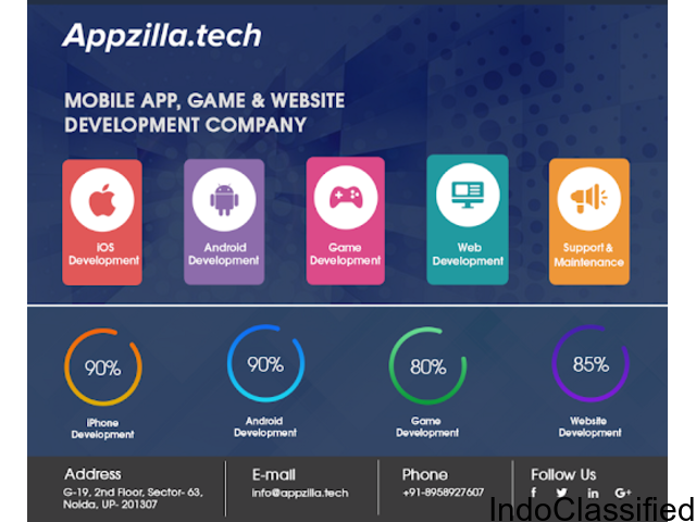 Appzilla | Mobile App Development Company in Delhi NC
