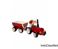 Dovetail Push Tractor and Trolley: Babies Bloom Store