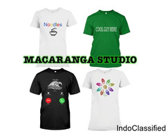 DO YOU WANT TO BE COOL?  MACARANGA STUDIO MAKES FOR YOU UNIQUE TSHIRTS
