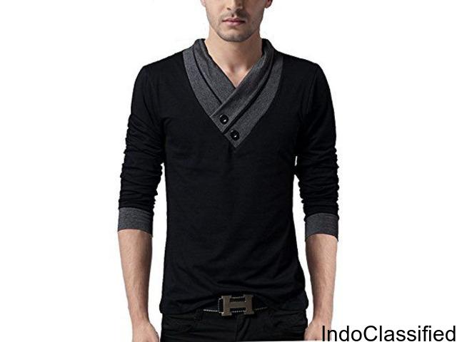 Men's Full sleeve Neck Cotton T-shirts