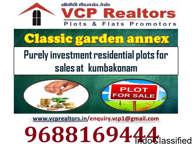 Approved Residential Plots for sale in kumbakonam