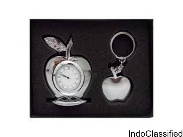 Gift Set for Employees/Apple Shaped Watch & Key-chain