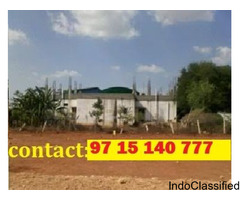 Just 2 k.m from Bharath college plots for sale