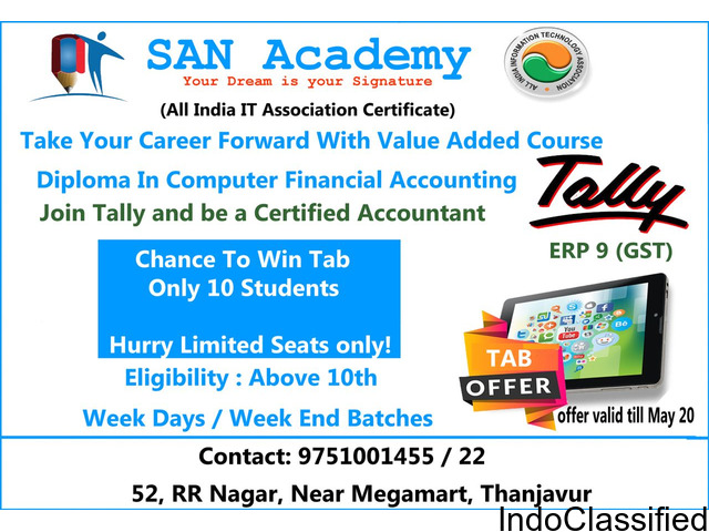 TALLY ERP 9 (GST) FREE TAB || COMPUTER COURSE