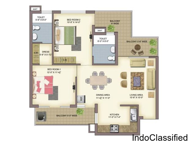 Buy 2 bhk / 3bhk / 4bhk flats in zirakpur