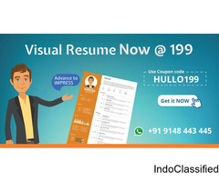 Be Noticed, Use Visual Resume