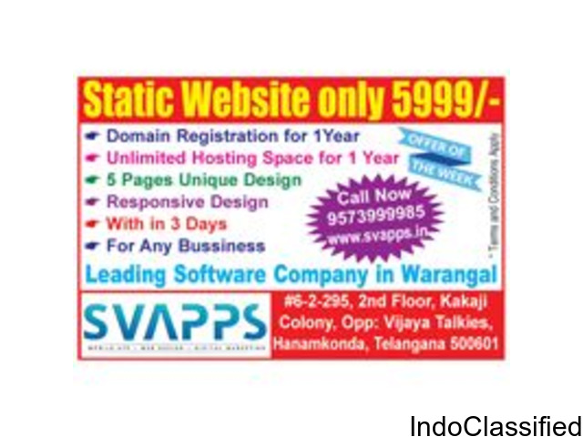 Web Design Digital Marketing Company Hyderabadl | Svapps soft solutions pvt. ltd