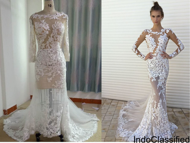 Darius Cordell - Custom Wedding Dress with Long Sleeves