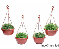 Hanging Plant Container Set (colour brown)