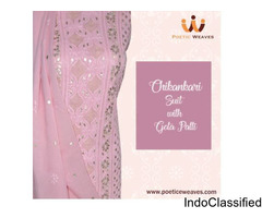 Chikankari Suit with Gola Patti at affordable Cost