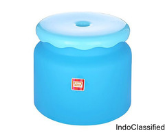 Frosty Bathroom Stool - Blue, 1 pc